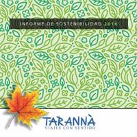 Tarannà Informe Sostenibilidad 2016